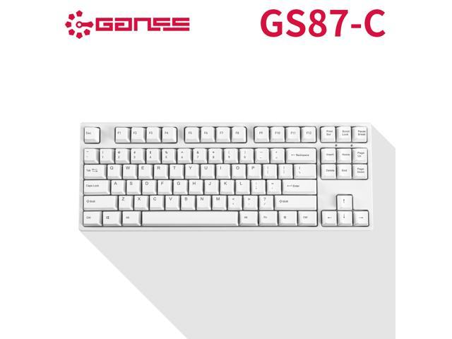 GANSS GS87C Mechanical Keyboard with Cherry MX Black Switch for iOS,  Android, Windows and Mac, PBT Keycaps-White - Newegg com