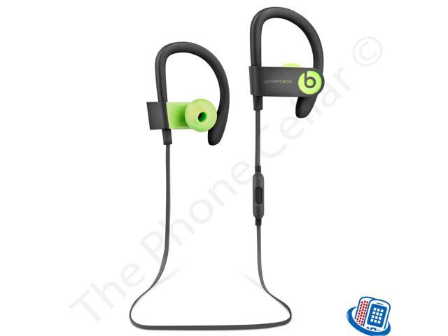 Beats by Dr. Dre Powerbeats 3 Wireless Active Bluetooth Black Green Ear-Hook 12394e7ac9