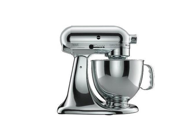 KitchenAid KSM152PSCR Custom Metallic Series 5-Quart Tilt-Head Stand Mixer  Chrome