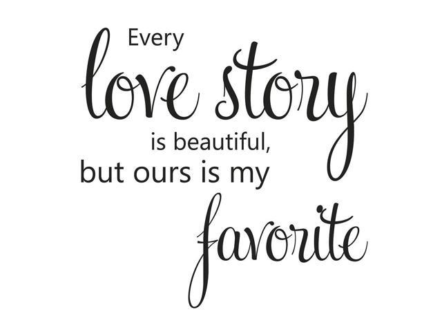 Pvc Love Story Letter Word Removable Diy Wall Decoration Art Sticker Decal Cm