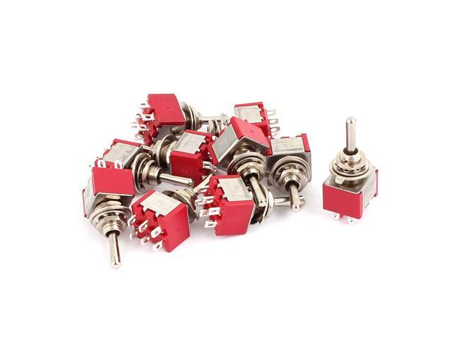 10 Pcs 250VAC 2A 125VAC 5A 6 Terminals DPDT ON/OFF/ON Momentary Toggle  Switch - Newegg com