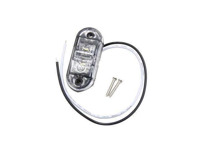 dc 10v-30v 1w 2 white led side marker indicator light lamp for car truck trailer