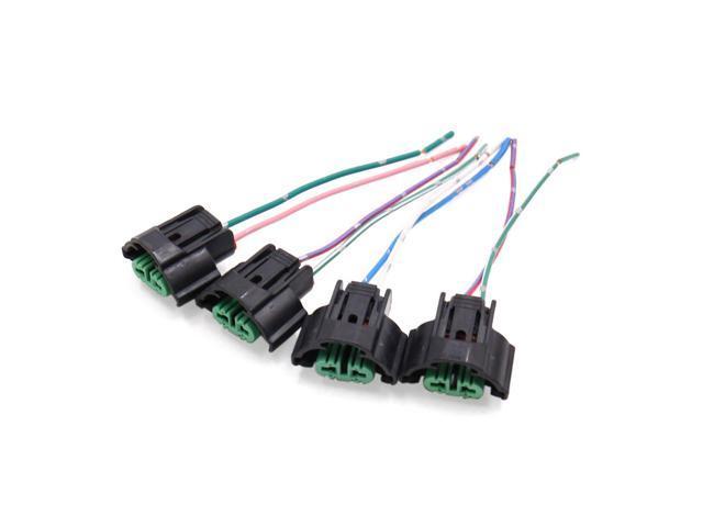 4Pcs H11 Fog Light Lamp Bulb Socket Wiring Harness Connector Holder H Fog Light Wiring Harness on