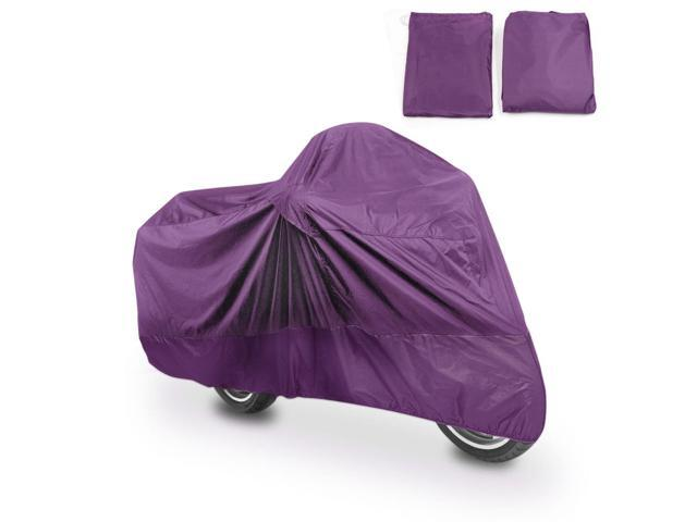 Purple Waterproof Motorcycle Bike Cover Scooter Rain Outdoor Protector