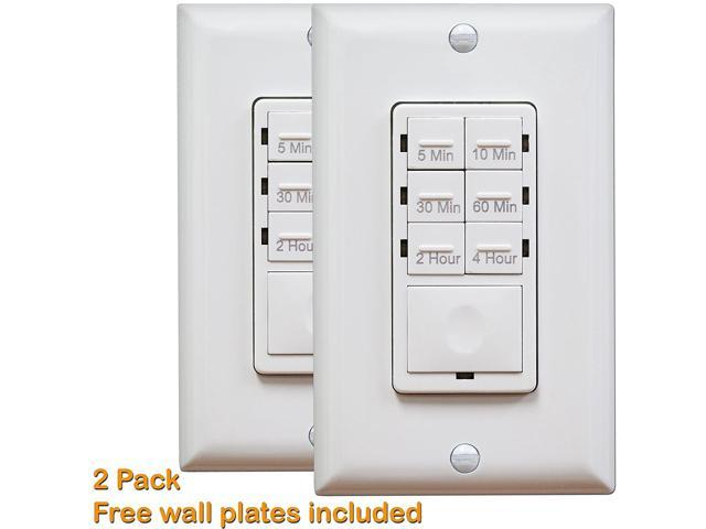 2/PK Countdown Timer Light Switch, 5-10-30 Mins, 1-2-4 Hours Preset ...