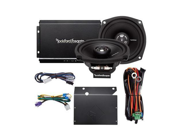 Rockford Fosgate R1-HD2-9813 140W 2-Channel Harley Motorcycle Amp+Speaker System