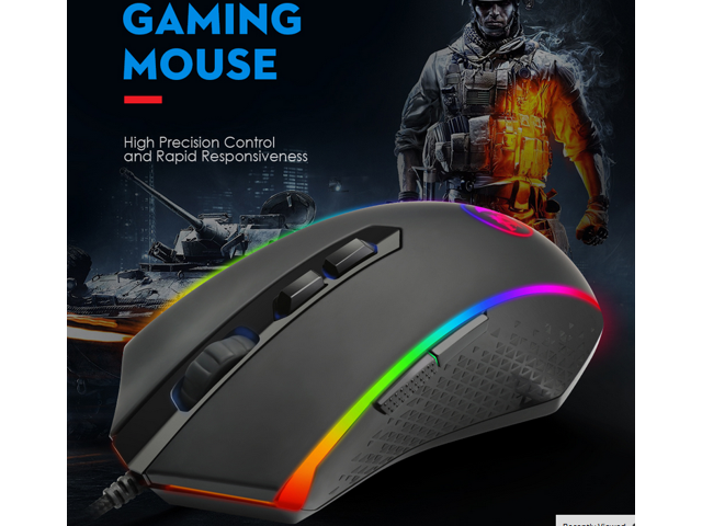 ae48f08ce90 Redragon M710 up to10000 DPI Gaming Mouse, 2 Ambidextrous Programmable Side  Button Gaming Mouse with