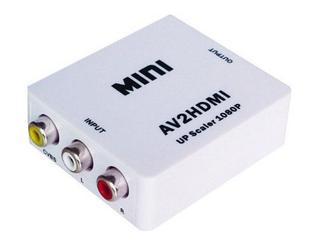Rca Av To Hdmi Converter Adapter Mini Composite Cvbs To