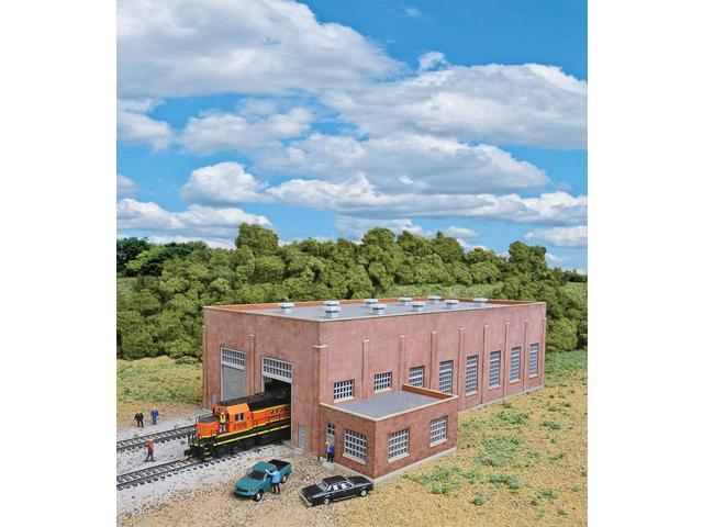 Walthers Cornerstone N Scale Building/Structure Kit 2-Stall Brick Diesel  House - Newegg com