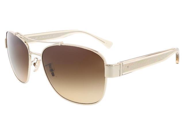 c4efffcdc Coach HC7064 926513 Light Gold/Crystal Light Brown Aviator sunglasses