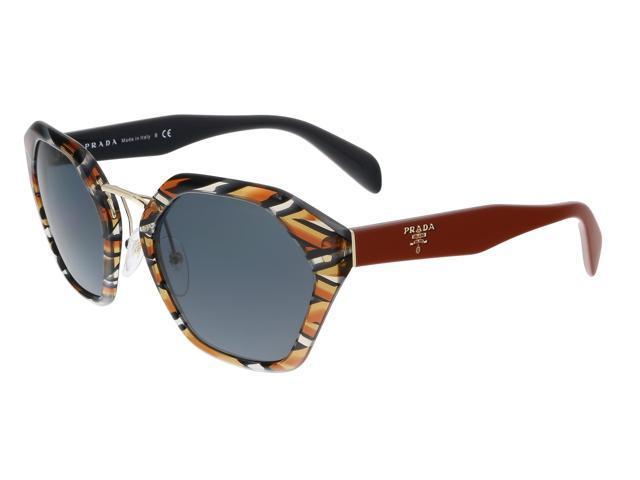 8005a816beb Prada PR 04TS VAN9K1 Sheaves Grey Orange Square Sunglasses ...