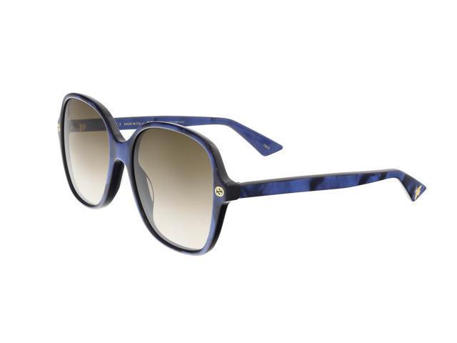 3d50769bc9 Gucci GG0092S 005 Blue Square Sunglasses - Newegg.com