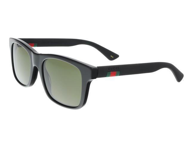136c4550ab092 Gucci GG0008S 001 Black Square Sunglasses - Newegg.com