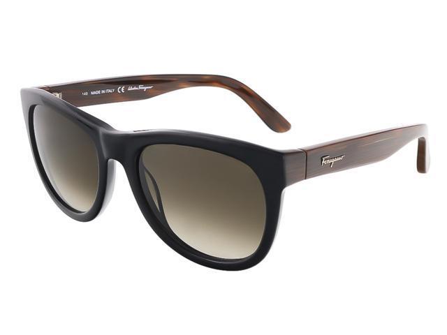 6dd5af982e107 Salvatore Ferragamo SF685S 001 Black Wayfarer sunglasses ...