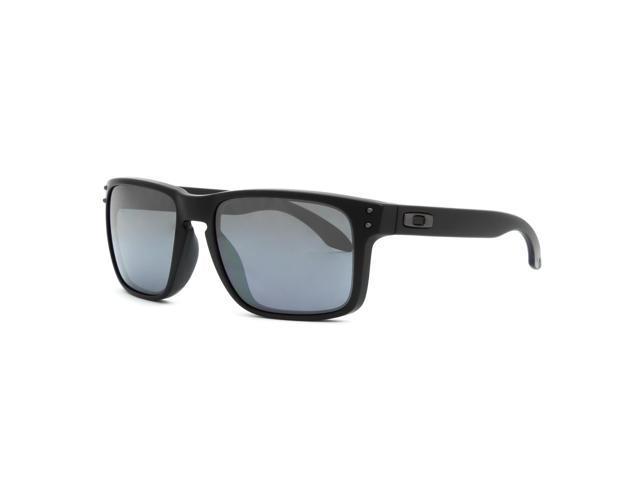 545eed4dbb Oakley OO9102-63 Holbrook Sunglasses - Matte Black Frame   Black Iridium  Lens