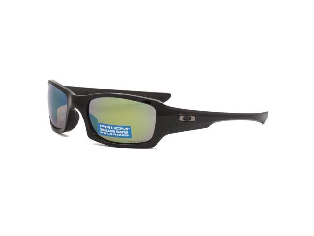 69bf99735e Oakley Fives Squared Prizm Shallow Water Polarized Sunglasses OO9238-18  Polished Black   Prizm Fresh