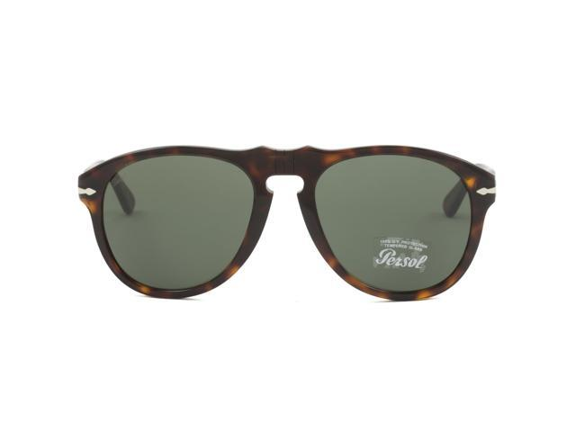 f2ec6952cb53 Persol PO0649 Aviator Sunglasses 24/31 Havana Brown / G15 Grey Green Lens  649 56 mm - Newegg.com
