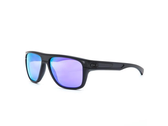 2b8961fd50 Oakley Breadbox Sunglasses OO9199-02 Matte Black Ink Frame Violet Iridium  Lens