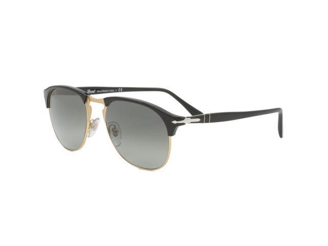 56273f50a9 Persol PO8649S Sunglasses 95 71 Black Frame   Dark Grey Faded Anti-Glare  Treatment