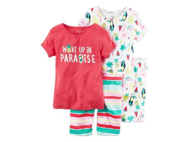 2379ed416d1d Carters 4-Piece Snug Fit Cotton PJs Woke up in Paradise Pink 2T ...