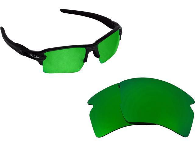 cdec3aeb0b Best SEEK Polarized Replacement Lenses for Oakley FLAK 2.0 XL Green Mirror