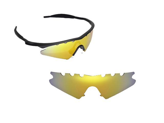266f5cb35e Best SEEK Polarized Replacement Lenses Oakley VENTED M FRAME SWEEP Gold  Mirror