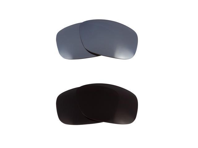 13ecd587cd Best SEEK Polarized Replacement Lenses Oakley BIG TACO Black Silver Mirror