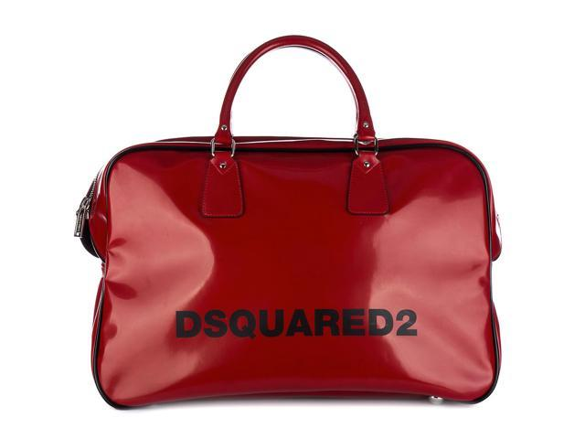 122ce698523d dsquared2 travel duffle weekend shoulder bag seventies duffle red
