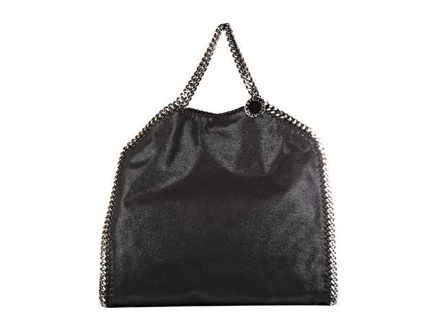 b615cafc2e STELLA MCCARTNEY WOMEN S HANDBAG SHOPPING BAG PURSE FALABELLA SHAGGY DEER FOLD  OVER TOTE BLACK