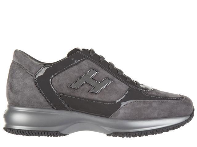 757d8d35481d hogan women s shoes suede trainers sneakers interactive h flock grey
