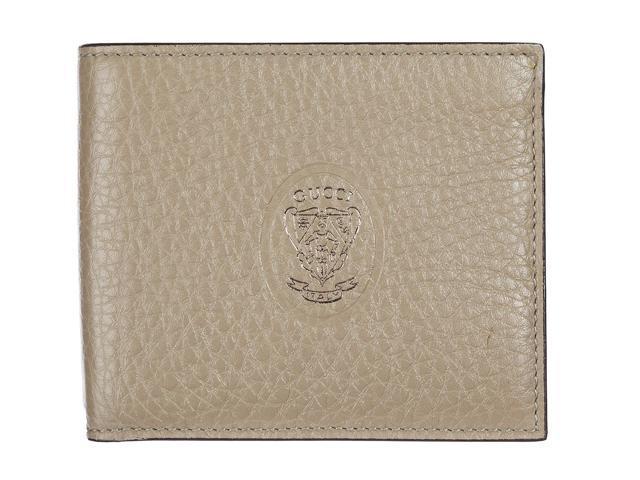 0379d0f8af5 gucci men s genuine leather wallet credit card bifold beige