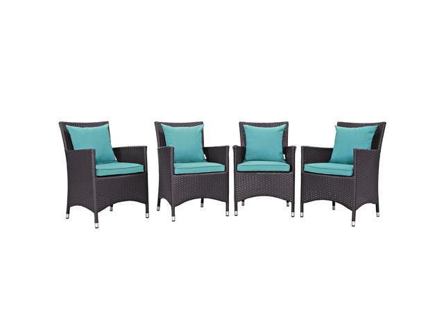 Modway Furniture EEI-2190-EXP-TRQ-SET Convene 4 Piece