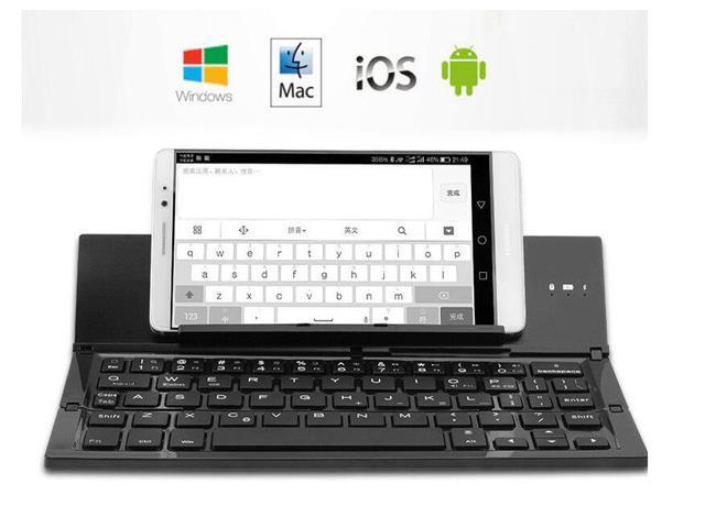 778fa1c7137 Portable Ultra-thin Bluetooth Keyboard Foldable with Aluminum Alloy Shell  Ultra Slim Keypad with Kickstand