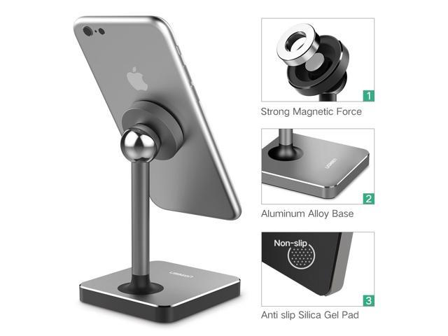 Magnetic Cell Phone Mount >> Magnetic Desk Phone Mount Tabletop Stand Cell Phone Holder For Iphone X Iphone 8 Google Pixel Samsung Nokia Lg Smartphone Gray 40358