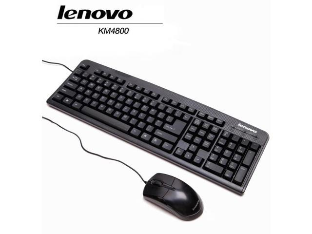 Lenovo KM4800 Wired Keyboard and Mouse Combo , Waterproof Ultra-thin ...