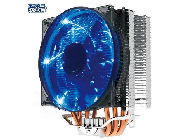 CPU Cooler Heatpipe 12cm Cooled Fan Radiator for LGA 775//1150//1151//1155//1156 Blue