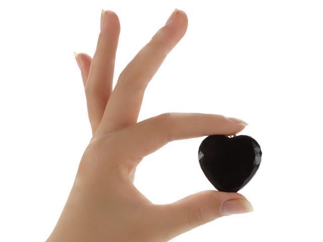 Size : 4GB Mini Heart Pendant Diamond Shape Necklace Voice Activated Recorder Voice recorder Digital MP3 Player 4GB//8GB//16GB//32GB Memory