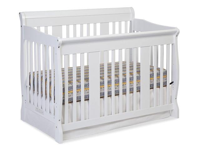 Stork Craft Tuscany Solid Wood Non Toxic Finishes 4 In 1 Convertible Crib White