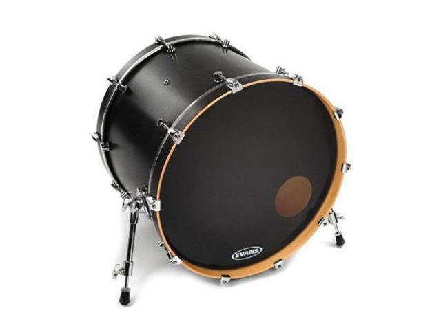 evans onyx resonant bass drum head black 18. Black Bedroom Furniture Sets. Home Design Ideas