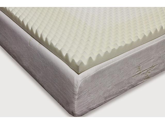 Memory Foam Mattress Topper.Milliard 2 Inch Egg Crate Ventilated Memory Foam Mattress Topper King Newegg Com