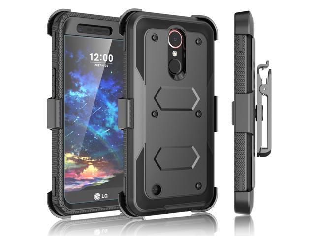 LG K20 Plus Case, V Holster, Harmony / V5 K10 2017 Case Clip, Tekcoo [TShell] [Built-in Screen Protector] Locking Secure Swivel Belt