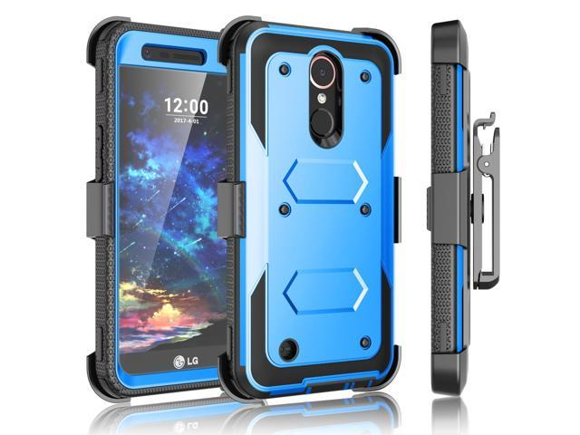 LG K20 Plus Case, V Holster, Harmony / V5 K10 2017 Case Clip, Tekcoo [TShell] [Built-in Screen Protector] Locking Secure Swivel Belt