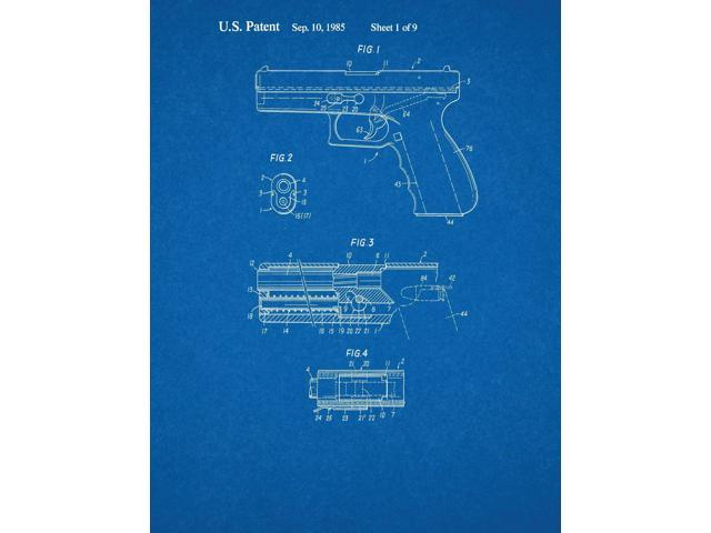 Glock 17 gun patent art blueprint newegg glock 17 gun patent art blueprint malvernweather Choice Image
