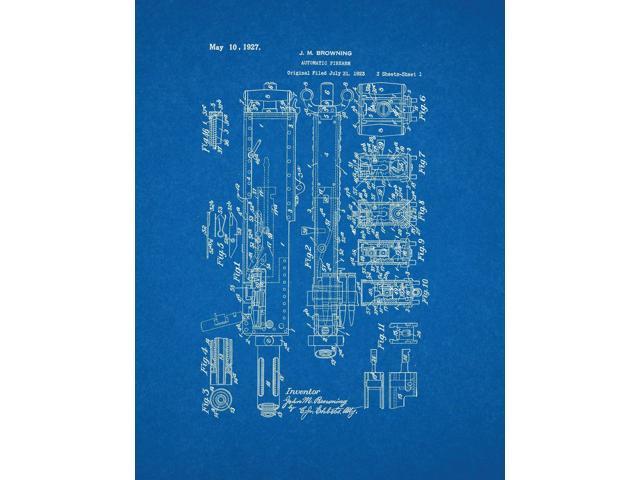 M2 browning machine gun in 50 bmg patent art blueprint newegg m2 browning machine gun in 50 bmg patent art blueprint malvernweather Gallery