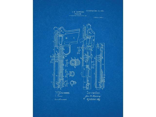 Colt model 1905 in 45 acp gun patent art blueprint newegg colt model 1905 in 45 acp gun patent art blueprint malvernweather Choice Image
