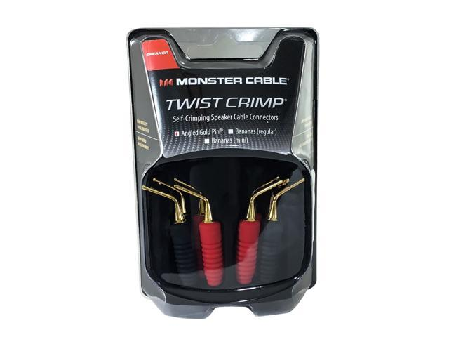 Monster Twist Self Crimping Speaker Wire Connectors - 4 Pair Angled ...