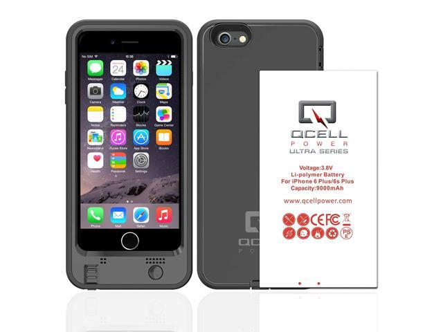 separation shoes 7660e 768cb iPhone 6 Plus and 6s Plus Battery Case, 9000mAh Ruggedized Battery Charging  Case(Fits All mobile carries of iPhone 6 Plus and 6s Plus) - Black - ...