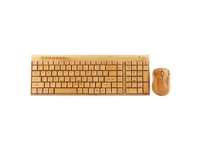bamboo silent handmade 2 4ghz ergonomic wireless mouse bamboo mouse keyboard combos with. Black Bedroom Furniture Sets. Home Design Ideas
