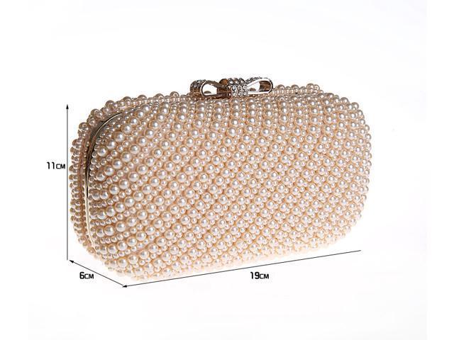 f8d39fb3f Perla completo estilo nuevo con cuentas para mujer de noche de bolso de  fiesta de boda perlas bolso Clutch Color sólido Newegg.com 031053-15-