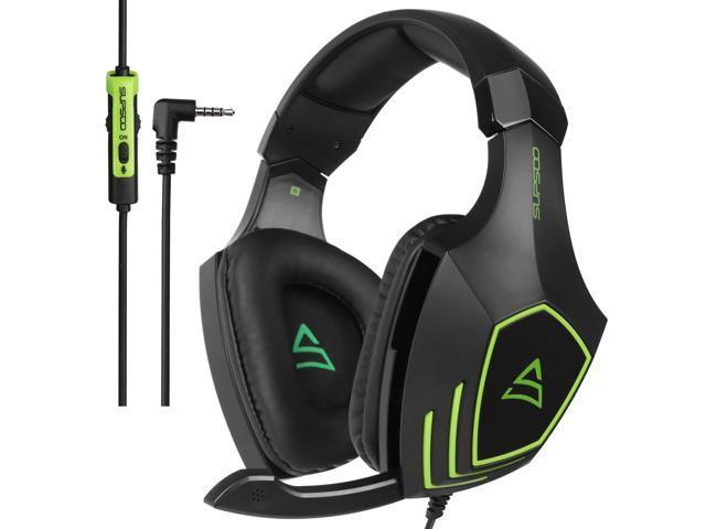 e3f0e402df1 SUPSOO G820 bajos estéreo auriculares 3, 5 mm en la oreja auriculares para  juegos con aislamiento de ruido micrófono para PC Xbox One PS4 - Newegg.com